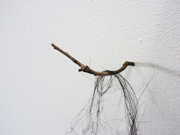 Entangled Memories, cast bronze twig and knotted horse hair detail.jpg
