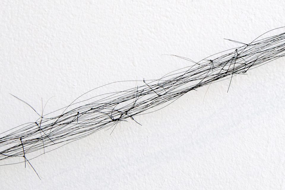 From head to tail (Kobi), Knotted Horse hair, steel clip detail 3.jpg