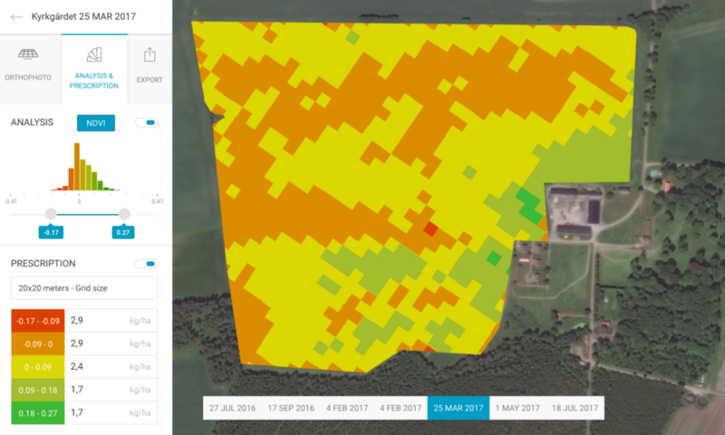 Drone imagery shows variations in crop establishment