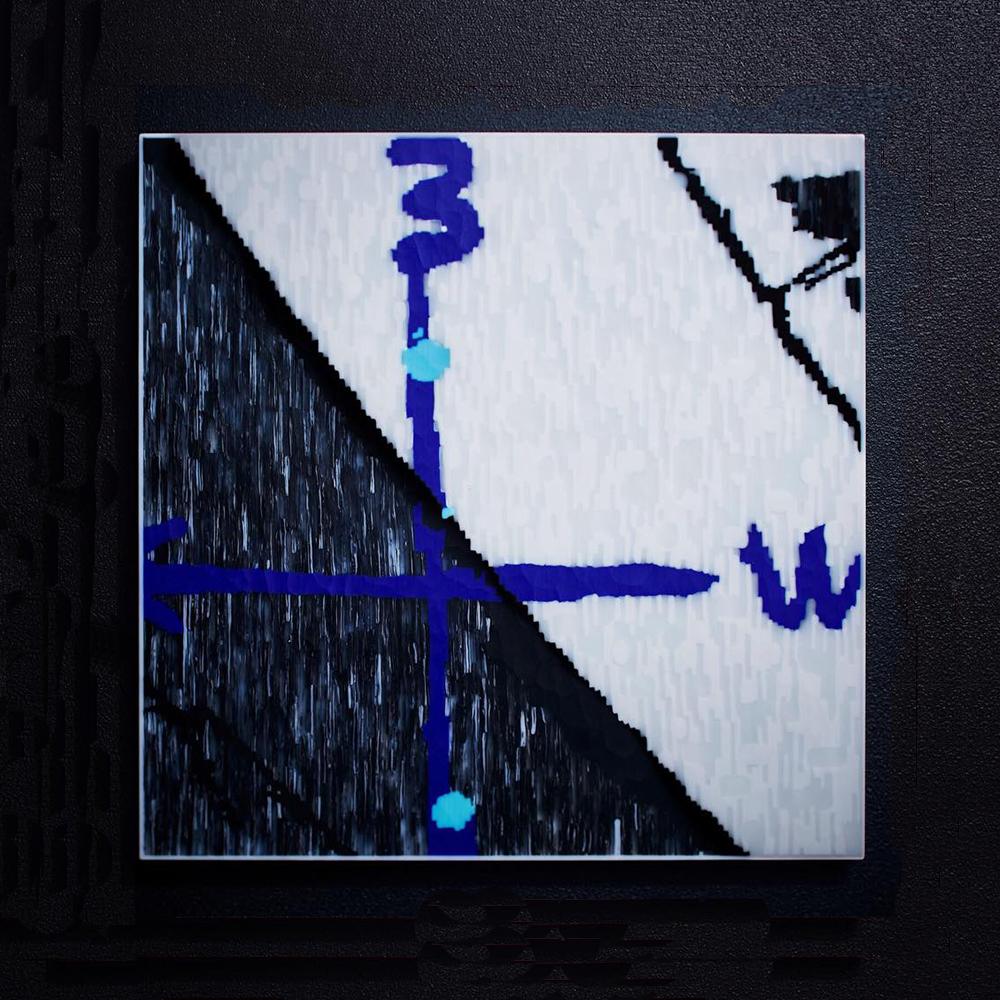 Blue double W