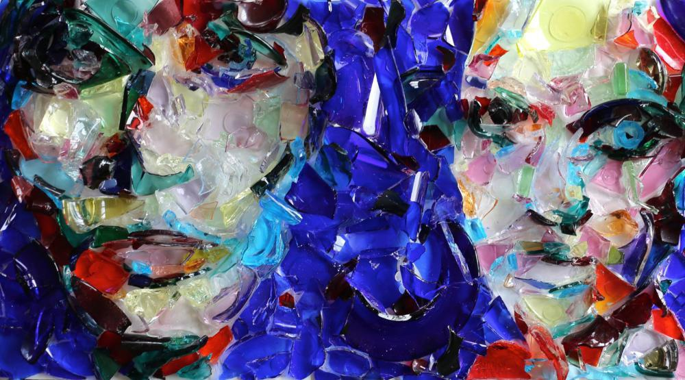 OP Freuler,  Color is a Game  - Artwork composed of glass shards