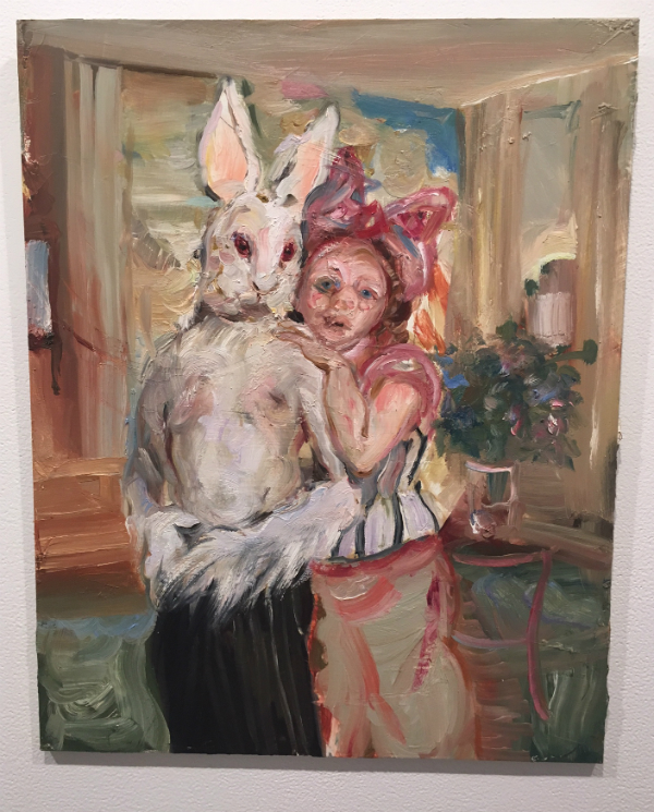 Natalie Frank, Couple in Interior I (2016), oil on board