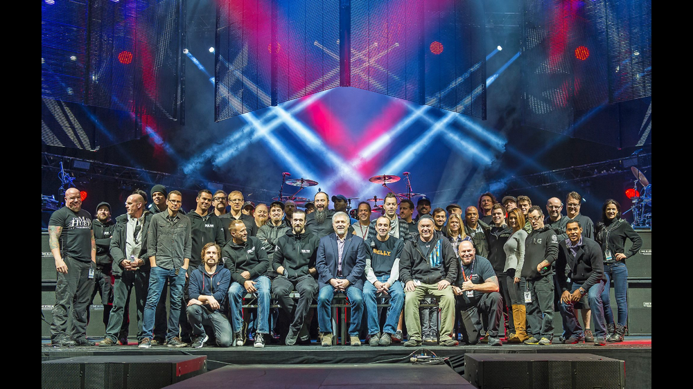 In light of the tragic death of Linkin Park's lead singer Chester Bennington, this picture is pretty special. Even though the band is not pictured here, this is the crew I worked with while out on the Hunting Party Tour of 2013 / 2014. I never got a copy of this until a great friend posted in online after Chester died. Special thanks to Megumi Kusano for sending this picture to me. I will cherish it forever!