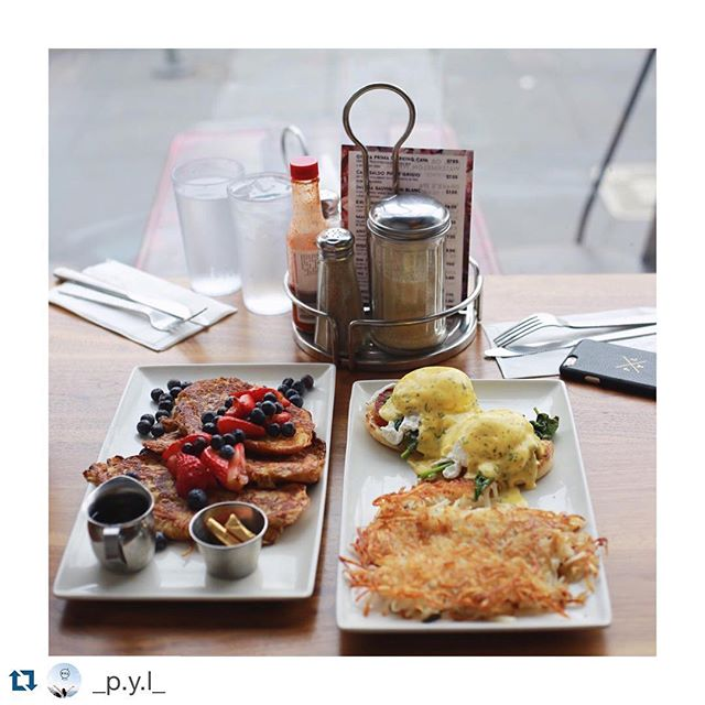 #Repost @_p.y.l_ with @repostapp. ・・・ Brunch with dear on Sunday. 🍽🍳 • • #brunch #benedict #harshbrown #breakfast #lunch #dear #sister #food #foodinsf #foodie #foodinsf #tea #coffee #cafe #blog #blogger #sfblogger