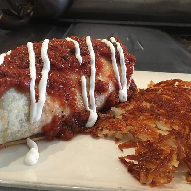 Start your day off with the burrito mejado and a hot cup of coffee!  #getwet #brunch #breakfast
