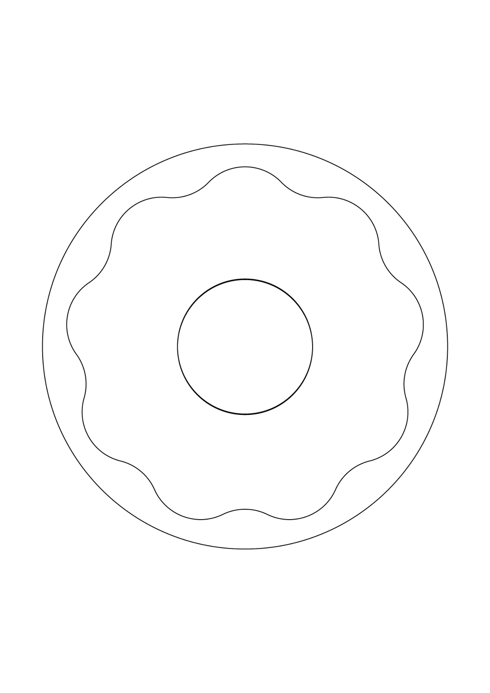 Donut template - print at 100% on A4 paper