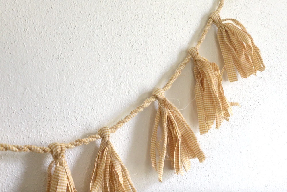DIY Fabric Tassel Garland