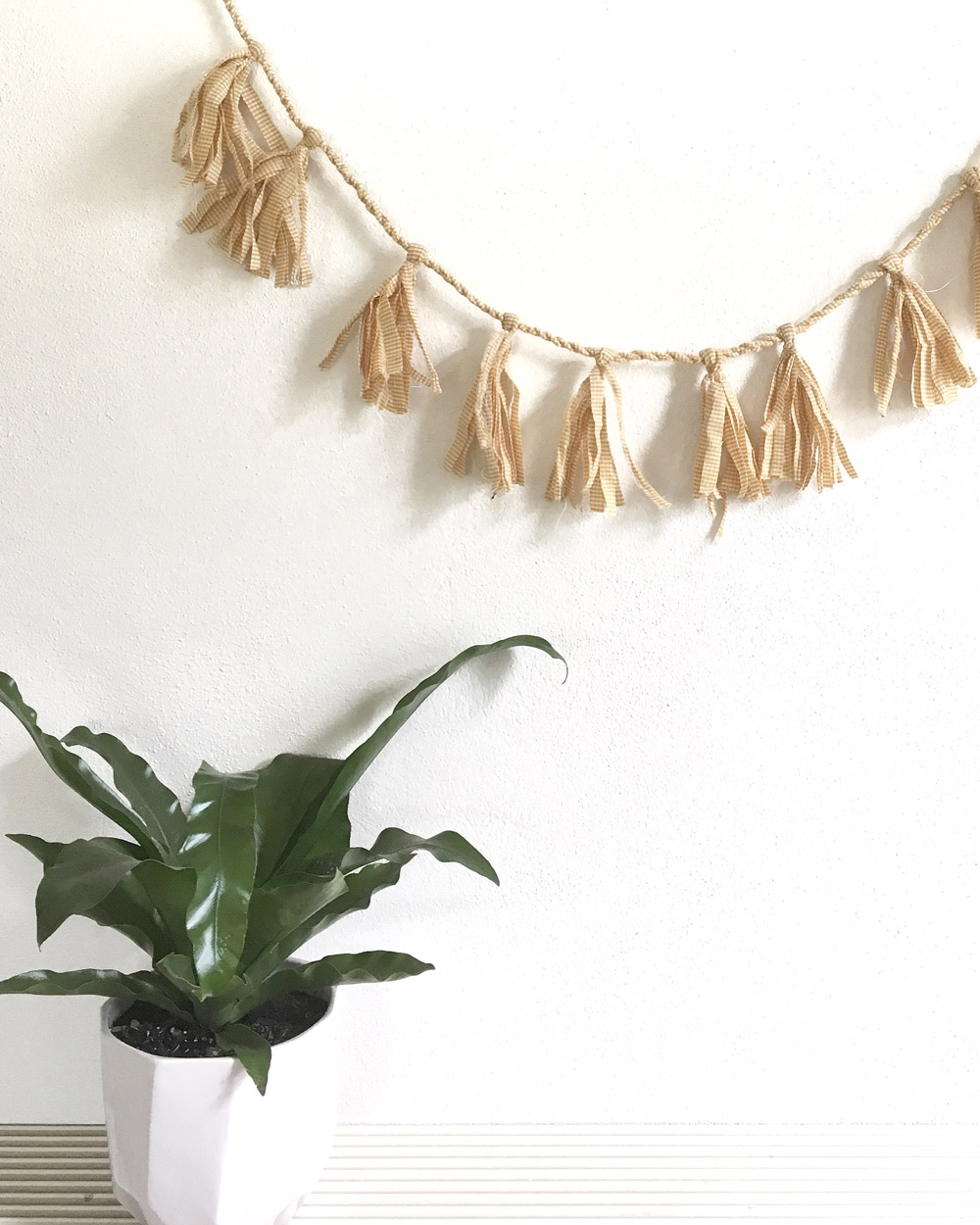 Fabric Tassel Garland