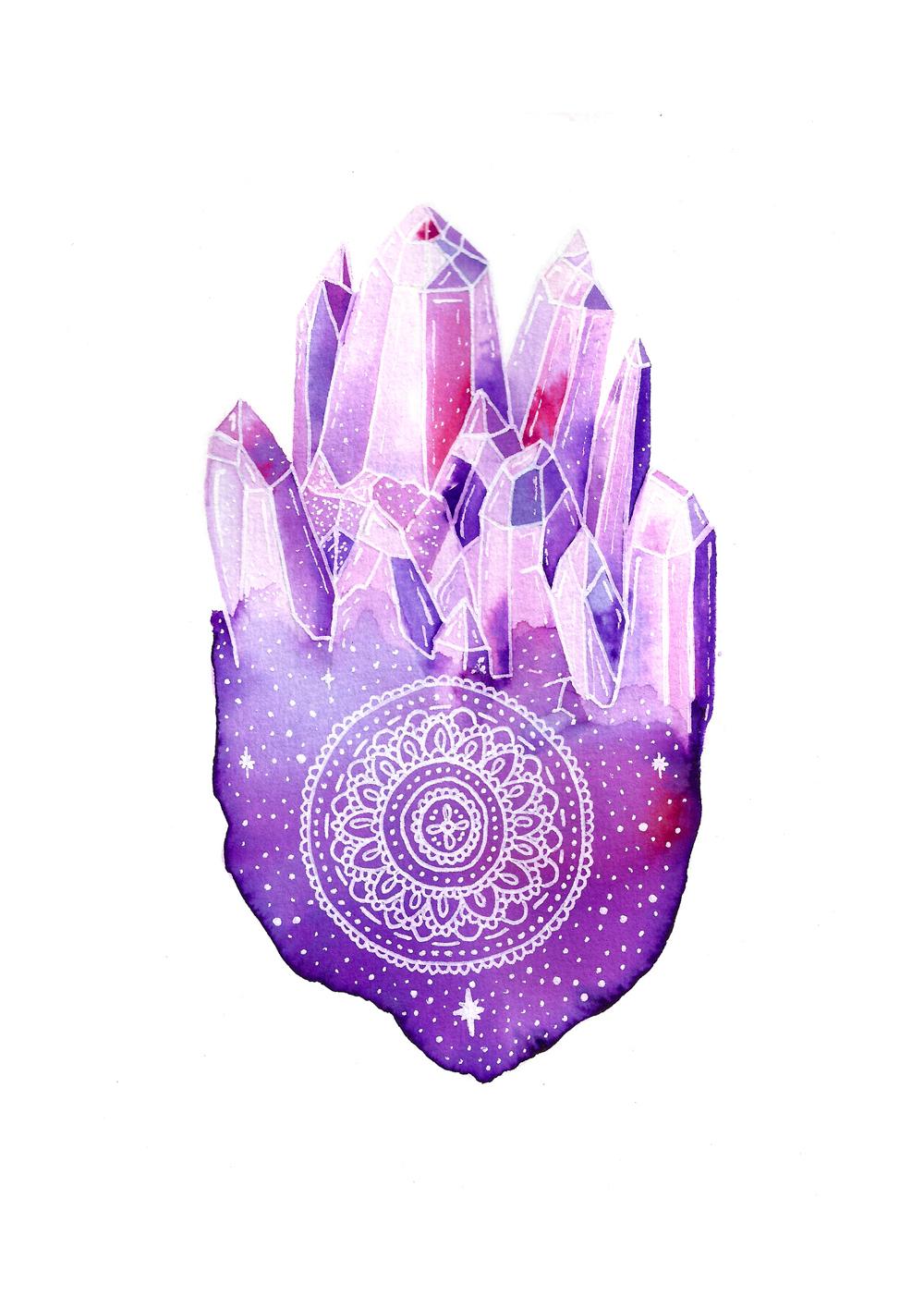 Crystal cluster mandala by leuro.com.au