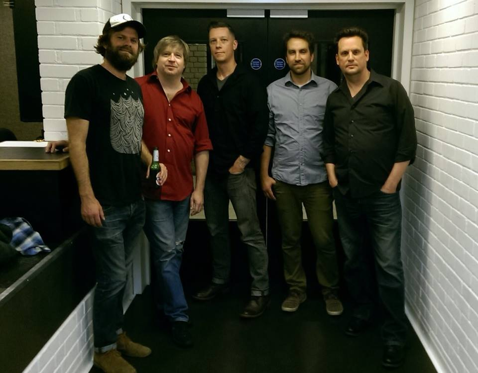 Sun Kil Moon, Manchester Nov. 2014. From left: Neil Halstead, Steve Shelley, Mike Stevens, Nick Zubeck, Mark Kozelek
