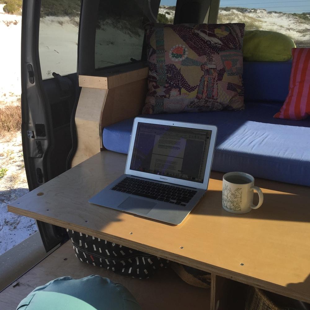 Astro Van Conversion, Desk Mode