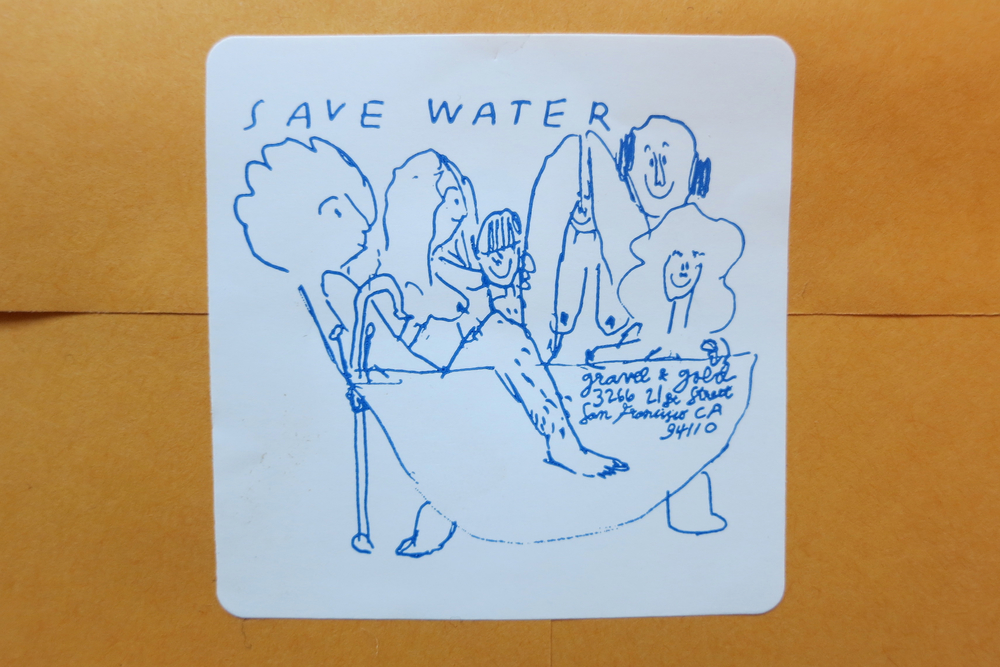 Save Water Sticker, 2014