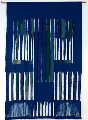Palaka, then Alice at the loom, then Blue and Green Forms, 1968
