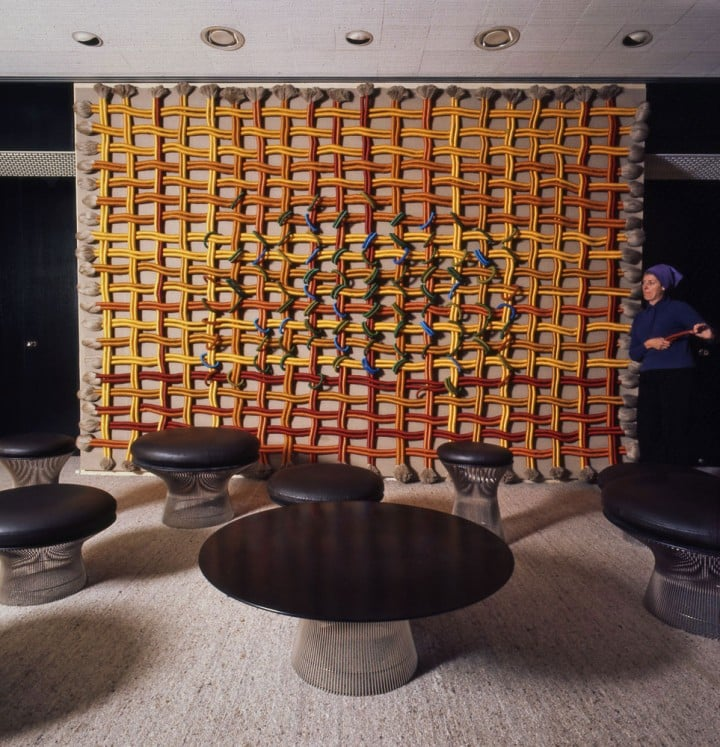 La Memoire    (1972) as it was originally installed at IBM headquarters in Paris.