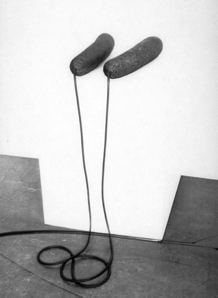Top is Gretchen Lambert,  Eva Hesse in her Bowery studio  (1965) then  Ingeminate  (1965) and   Hess   with it.