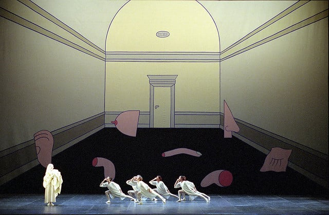 Marie-Louise's set for a 2012 production of    Giselle   , Acts I and II