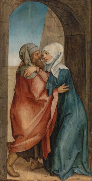 Meeting of Joachim and Anna at the Golden Gate   Hans von Kulmbach   c. 1510–1520