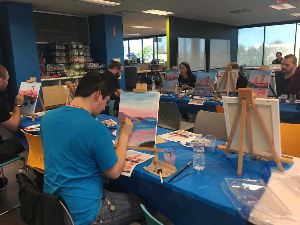 Paint Event conducted in February for Sumo Logic, Redwood City, CA