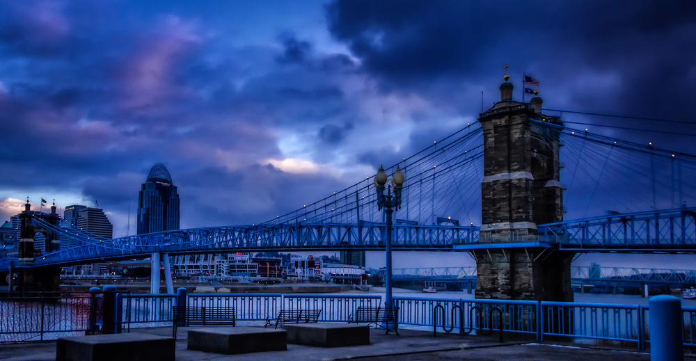 Roebling in Blue, Cincinnati, OH