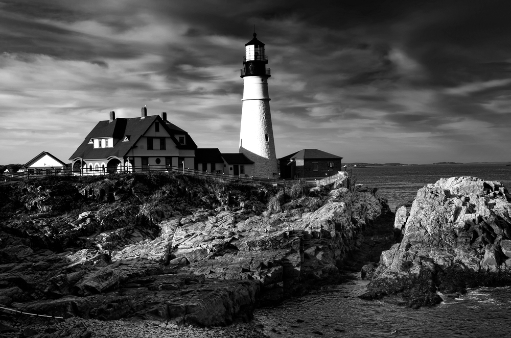 B&W Portland Head Light, Cape Elizabeth, ME