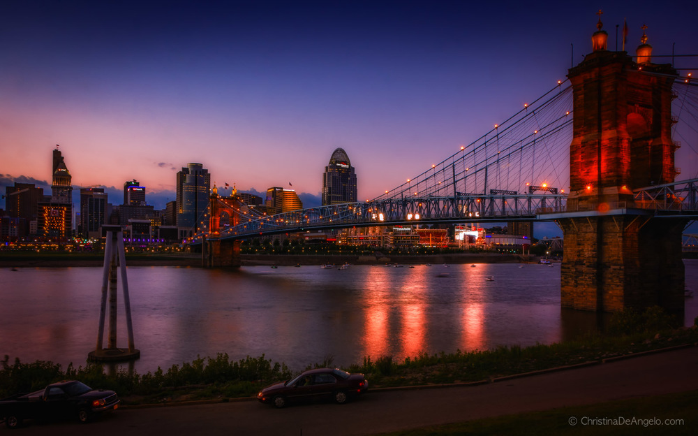Cincinnati Skyline at Dusk