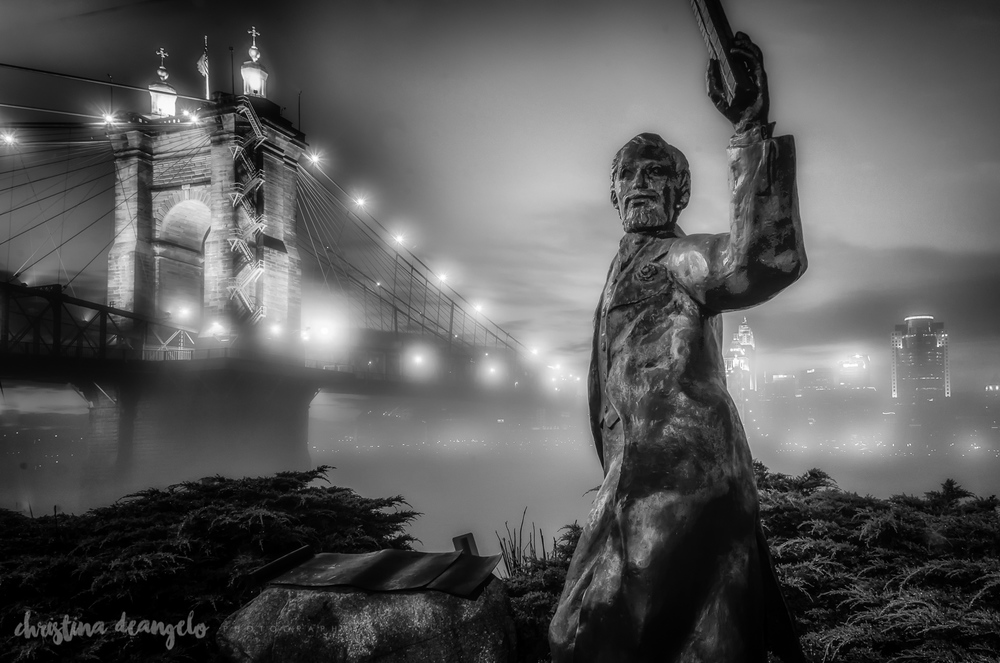 Roebling Statue & Bridge