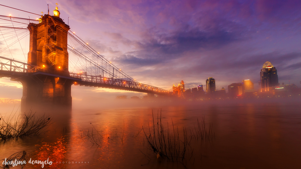 Fire, Fog & Sunset, Cincinnati, OH