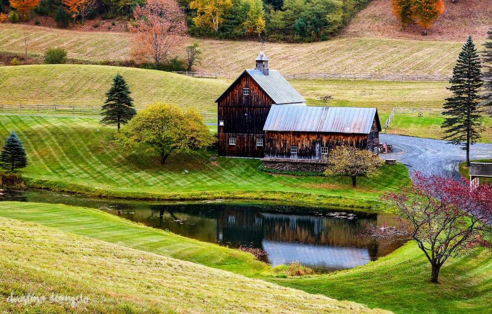 Barn Reflection, Woodstock, VT