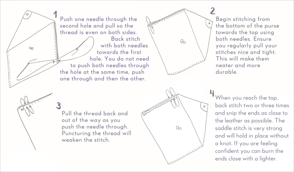 saddle stitch instructions