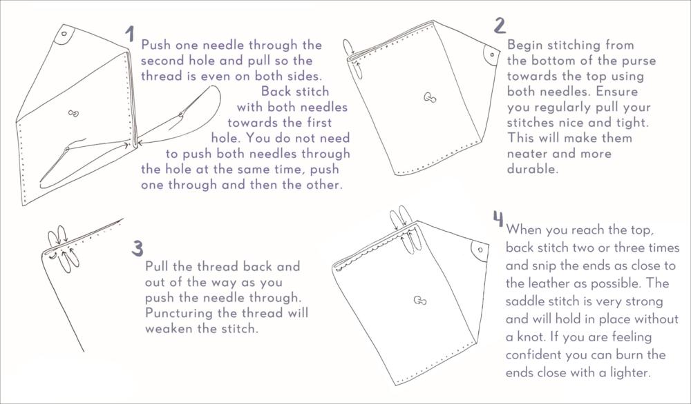 saddle stitch instructions