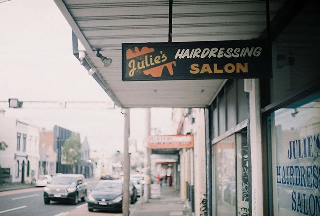 Julie's Hairdressing Salon by @kurteckardt  #35mm #film #photography #mixedbusiness #collingwood #hairdresser #ishootfilm