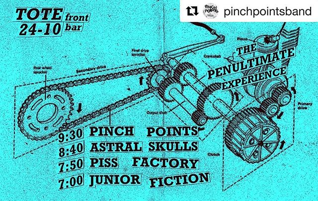 Wednesday - FREE in @thetotehotel front bar. Incredible line up, early night, and get the @pinchpointsband tape because it's stupid good.  #Repost @pinchpointsband ・・・ TOMORROW NIGHT TOTE—FRONT BAR—FREE