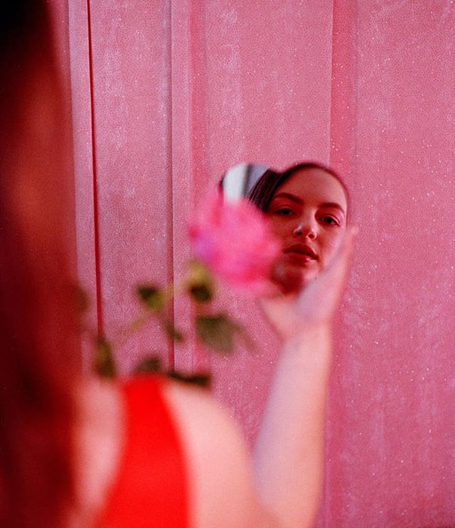 HELLO LOVER! Published on @sticks_and_stones_agency  Model @celiabow  HMUA @am.mua  I'm a sucker for love.  #35mm #filmphotography #sticksandstones #editorial #film #60s #vintage #fashion #fashionphotography  #valentinesday #mirror #art #playboy #rose #lover