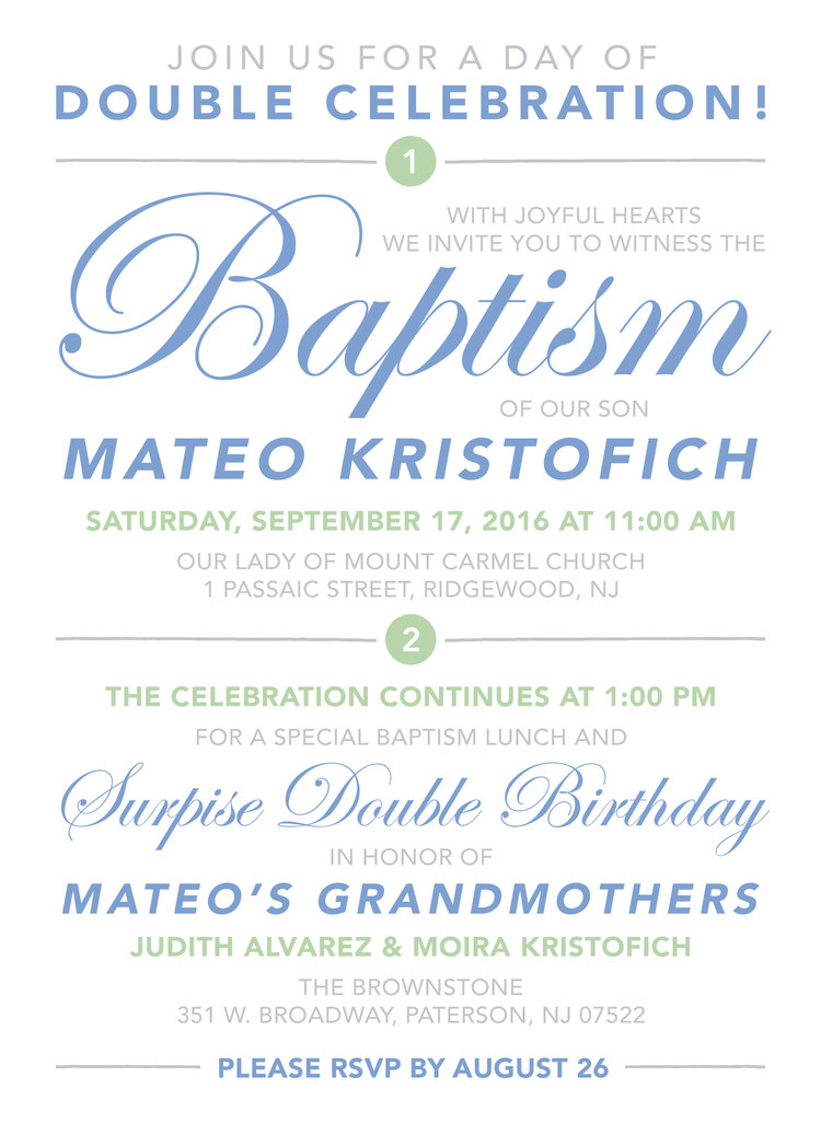 double celebration invitation drawn to mind
