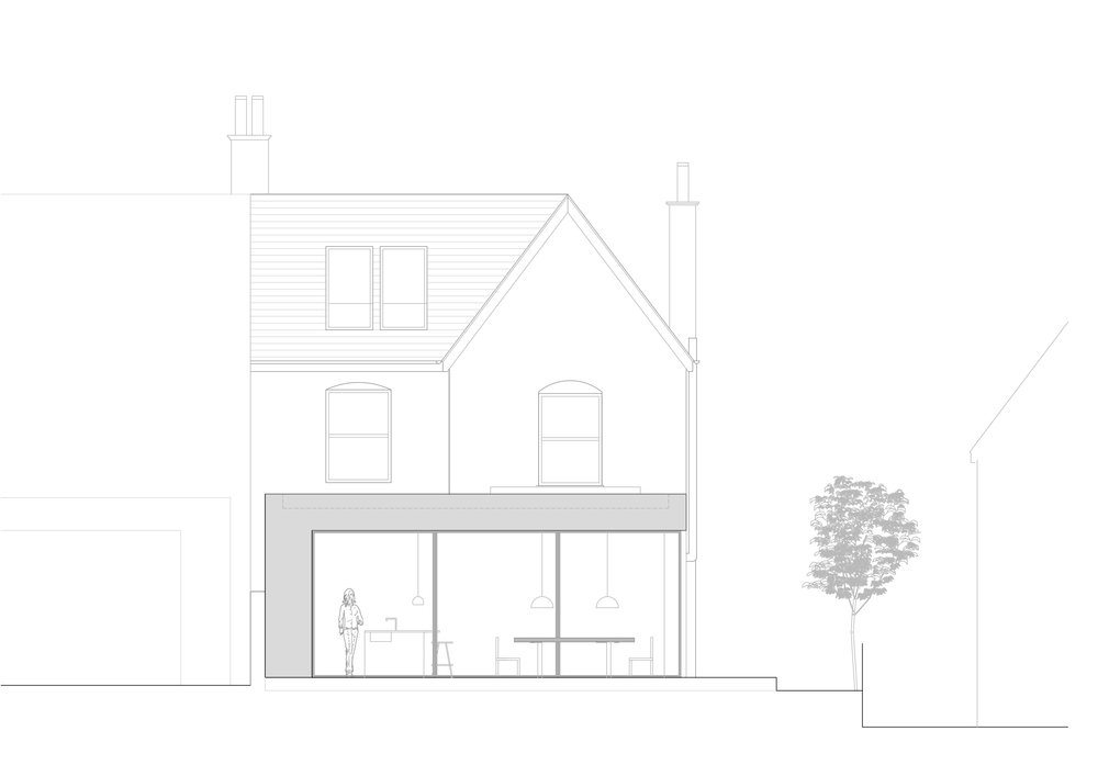 Proposed : Rear Elevation