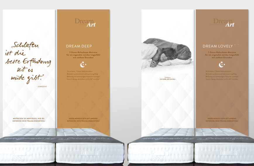 Dream Art - thinknewgroup relaunch 2019 , Branding Schlafmarke