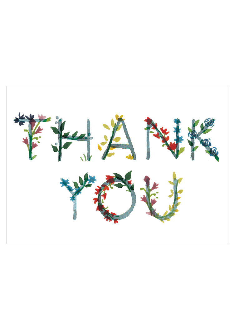 Thank you floral bow arrow press london thank you greetings card gc029 bow arrow press m4hsunfo