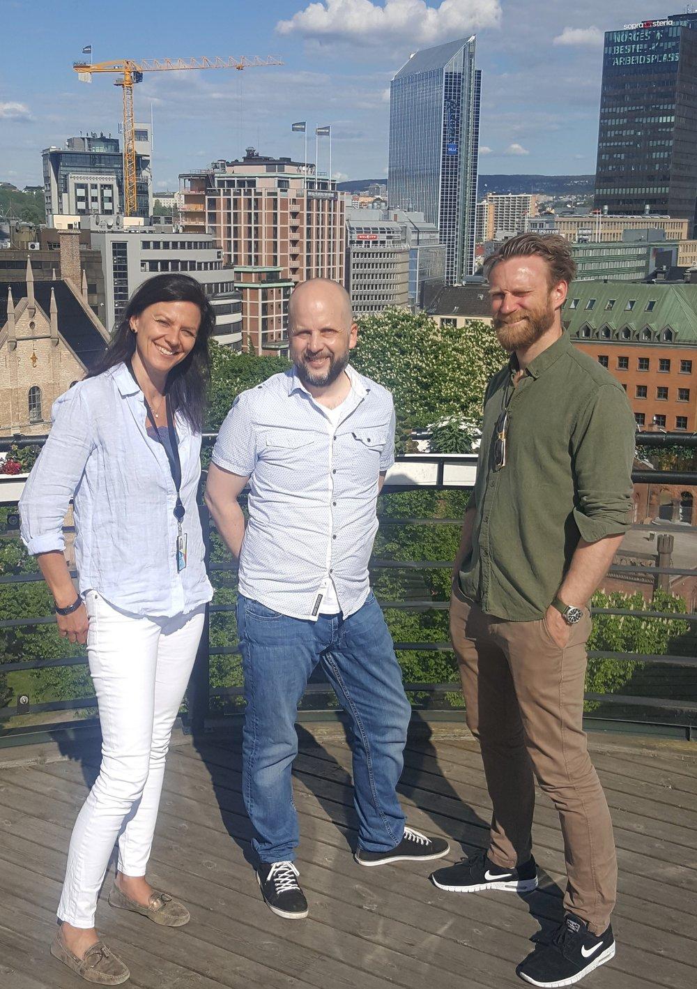 Juryen, fra venstre: Anne Cathrine Gotaas, Jørgen Moltubak og Steffen RM Sørum. Foto: Kjetil Nordengen
