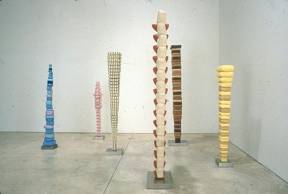 Louise Bourgeois' totem poles. I had the great pleasure of seeing a room full of similar totem poles in New York in 1999.