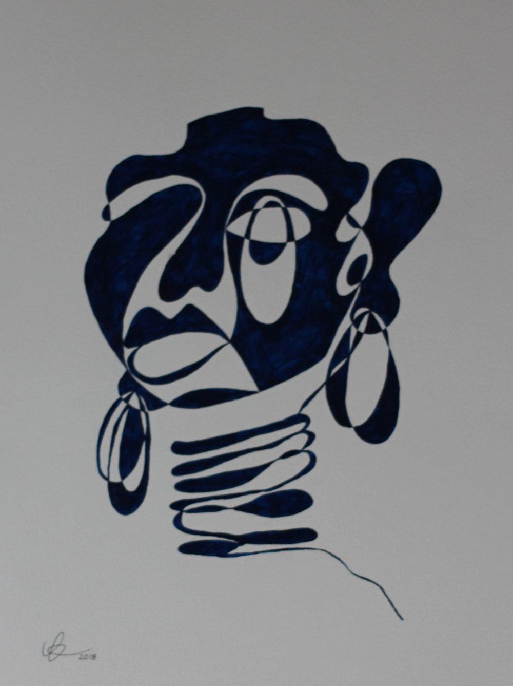 SOLDWomen 2018 - 42 cm x 56 cmAcrylic on LANA