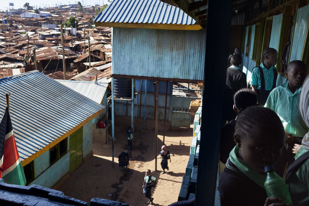 The view from a school in Western Kibera, Nairobi. Shot on assignment for Elle UK. 29/01/18