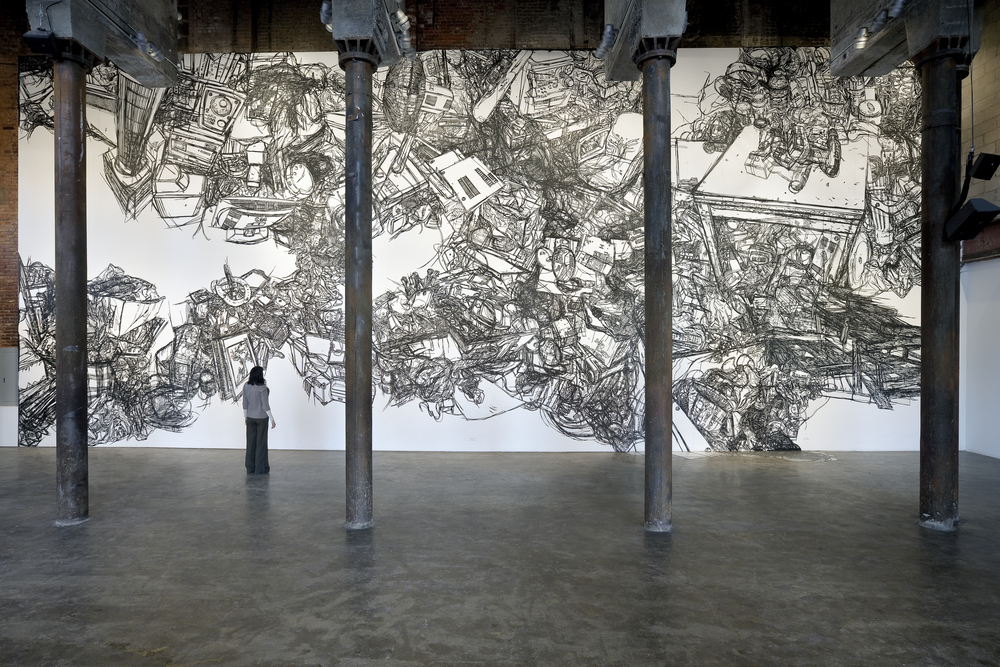 HeeseopYoon_Still life 11_view 2_2012_Black masking tape on Mylar_24'x60'.jpg