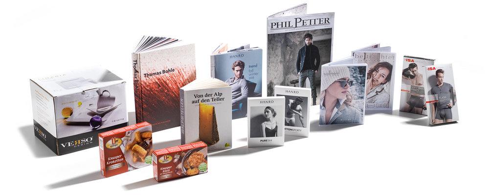 Fotowerk Referenzen: Bücher, Prospekte, Verpackungen