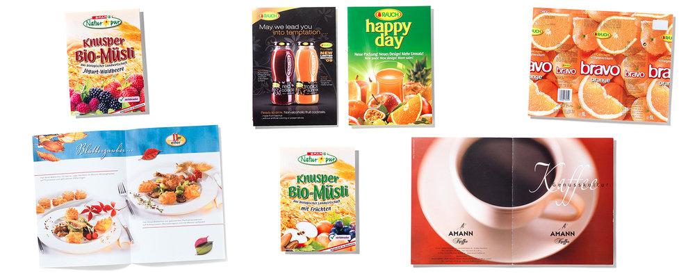 Fotowerk Referenzen: Lebensmittelverpackungen, Foodkataloge