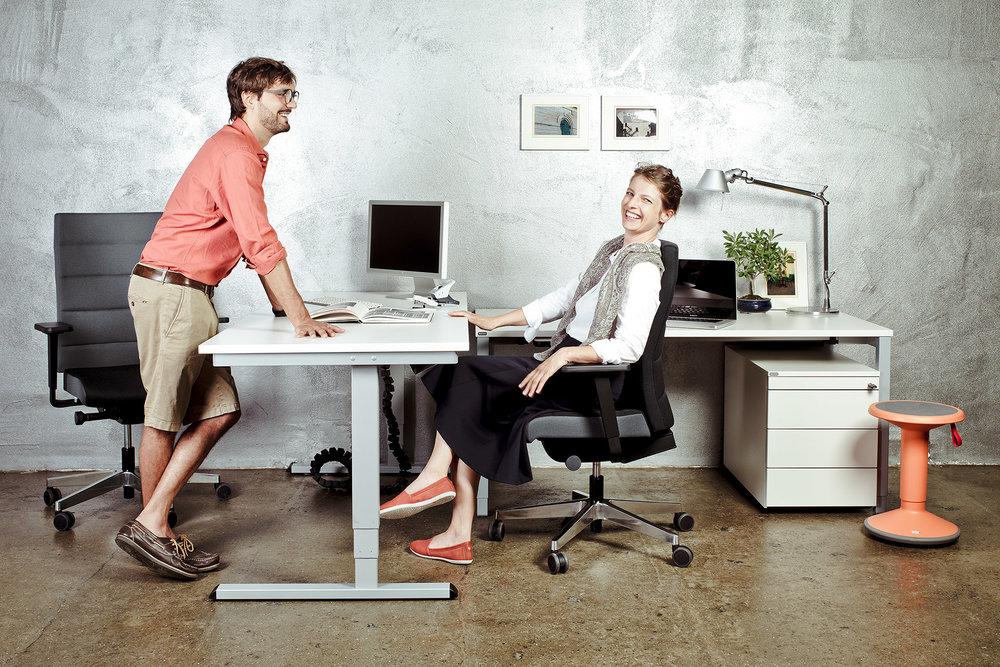 Fotowerk Produktfotografie - Einrichtungssituation für Büromöbel