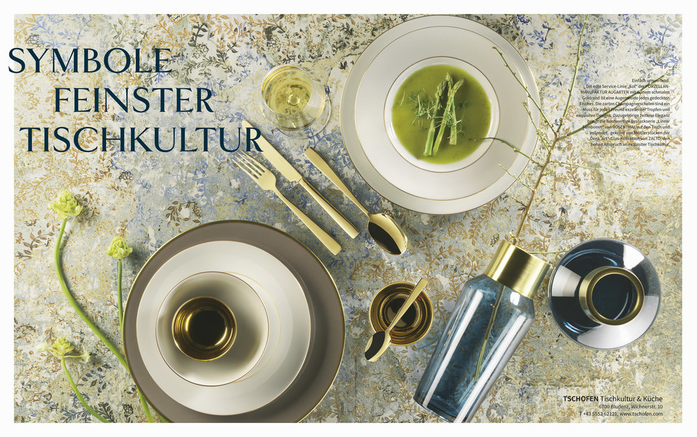 Fotowerk Lampelmayer - Produktfotografie, Tschofen Tischkultur im Circe-Magazin