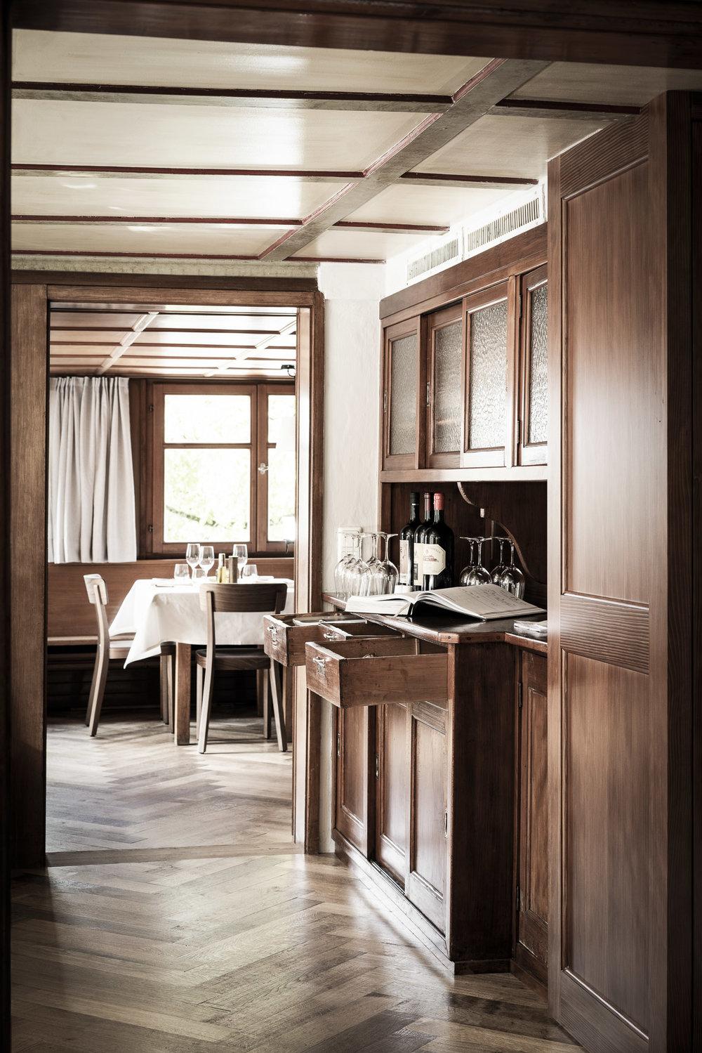 Fotowerk Hotelfotografie - Detail der rustikalen Gaststube
