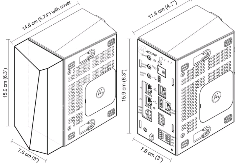 ACE1000 dimensions (Main Unit).