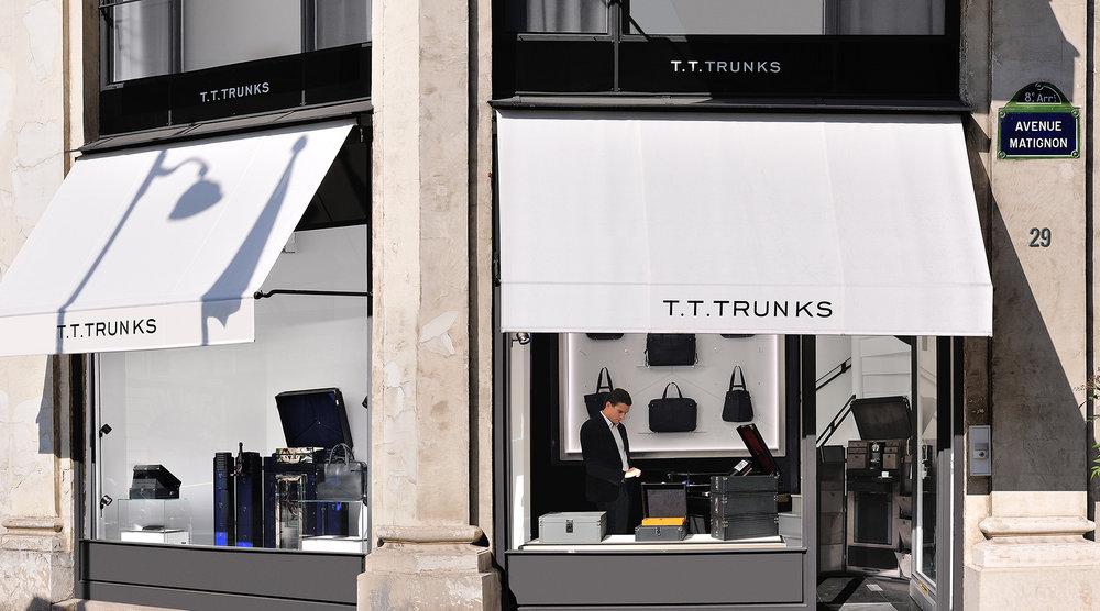 T.T.TRUNKS精品店 - 马提尼翁大街29号和圣•奥诺雷街116号交界处75008 巴黎营业时间:周一至周六 10:00 — 19:30联系电话: +33 1 45 74 04 31电子邮件 : contact@tttrunks.com