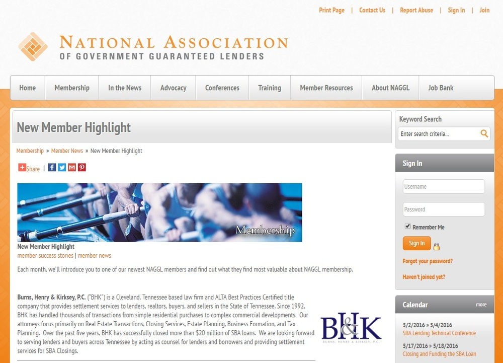 Check out our New Member Highlight on the National Association of Government Guaranteed Lenders website!